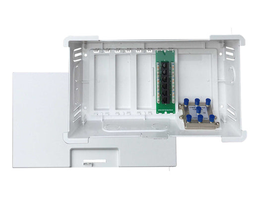 Surface Mount Recessed 9-inch MDU Cabinet with Voice & Data Modules