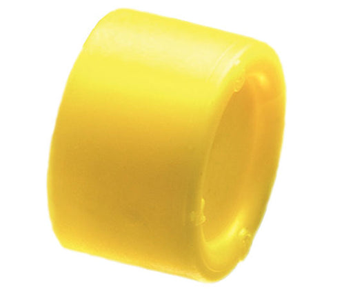 Press fit Non-Metallic Conduit cap and insulating bushing - Yellow