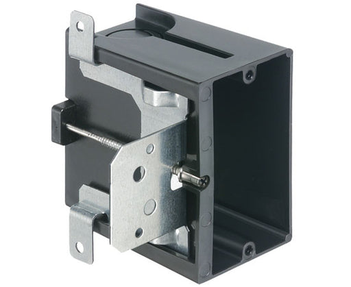 Single-Gang IN/OUT™ BOX in Adjustable PLASTIC Outlet Box - New Construction - 1 gang