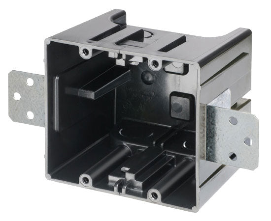 Gangable Non-Metallic/Plastic Dual-Gang End Box - New Construction