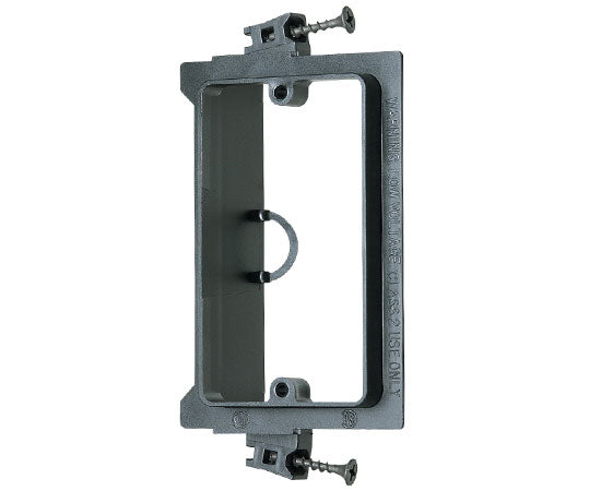 Single Gang Screw-on Low Voltage Mounting Brackets, Black with Screws
