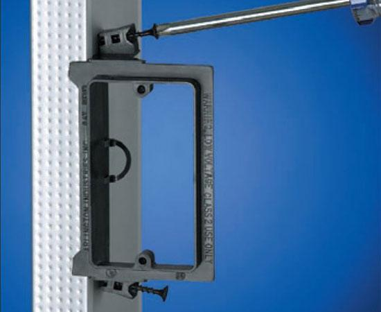 Screw-on Low Voltage Mounting Brackets, Black with Screws- Installation