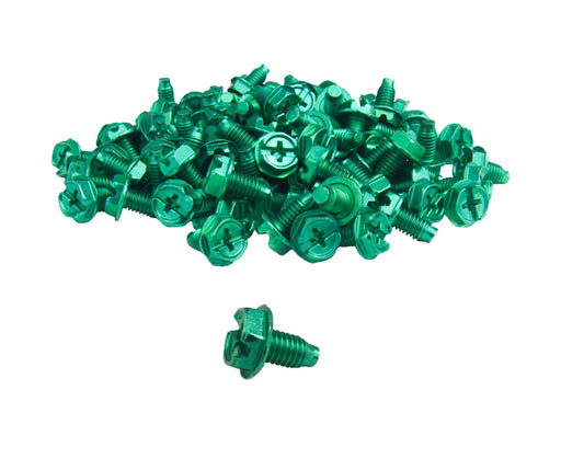"10-32 Ground Screws, 3/8"" (100 Pack) - Green"