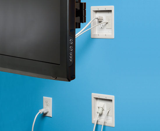 2-Gang TV Bridge™ Complete, Easy-to-install Kit for Flat Screen TVs, Installed