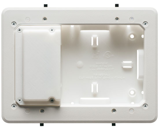 "5"" x 8"" Low Profile Plastic TV Box™ for Shallow Wall Depths"