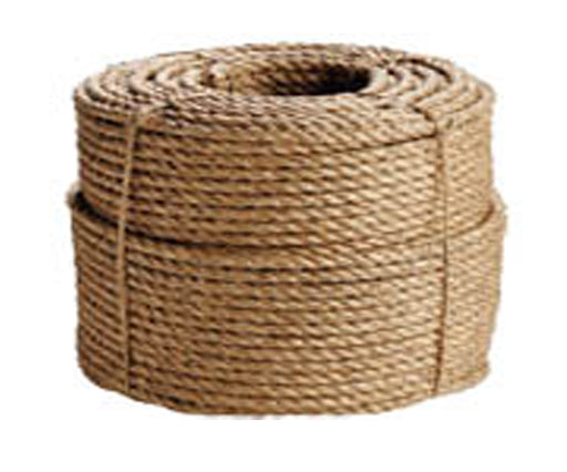 Twisted 3 Strand Manila Rope, Natural Fiber