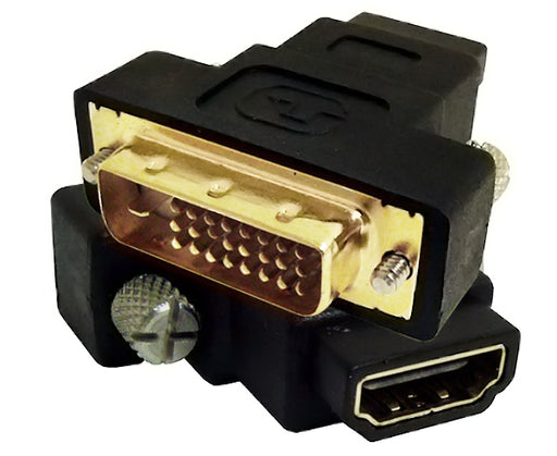 DVI-D/HDMI Dual Link Adapter, Male/Female Gold Plated