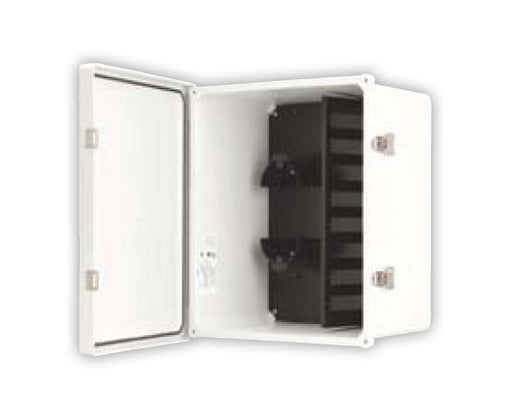 Fiber Wall Mount Enclosure, NEMA 4X Rated, 8 Panel Capacity