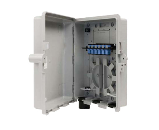 Fiber Wall Mount Enclosure, NEMA 3 Rated, 1 Panel Capacity with 6 Splices