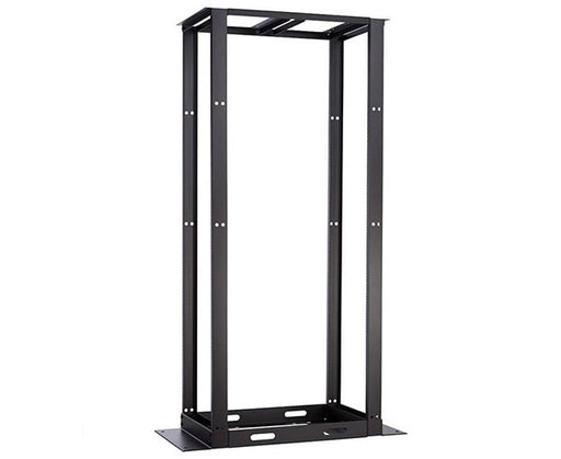 Network Rack, Open Frame, 4 Post Double-Sided, Cage-Nut Rails, 45U, 29™ Depth