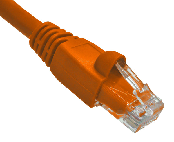 3' CAT6A 10G Ethernet Patch Cable - Orange