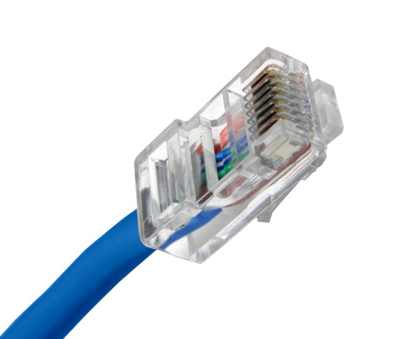 CAT5E Ethernet Patch Cable, Non-Booted, RJ45 - RJ45, 20ft - BLUE