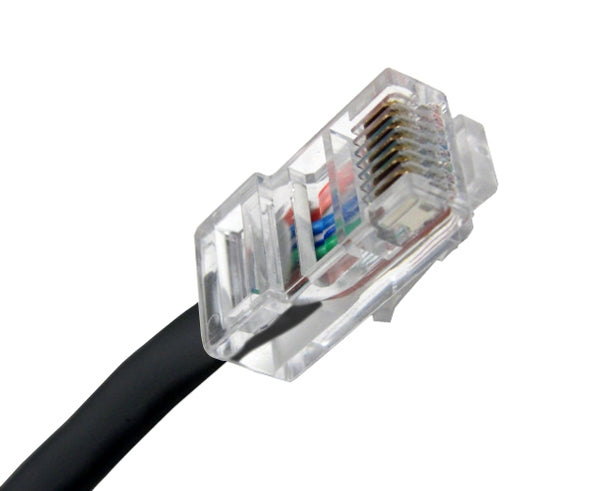 CAT5E Ethernet Patch Cable, Non-Booted, RJ45 - RJ45, 20ft - BLACK