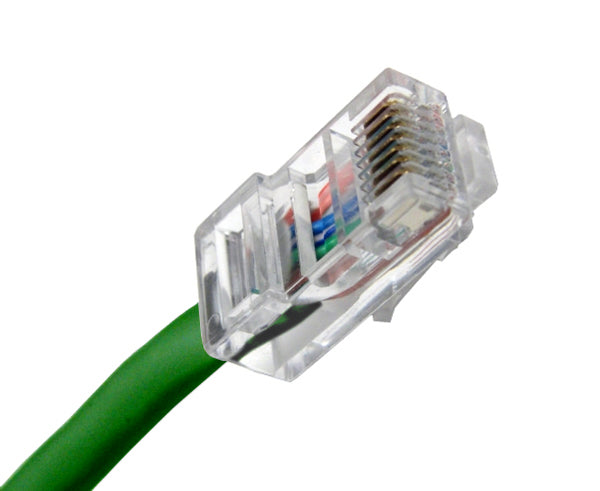 CAT5E Ethernet Patch Cable, Non-Booted, RJ45 - RJ45, 20ft - GREEN