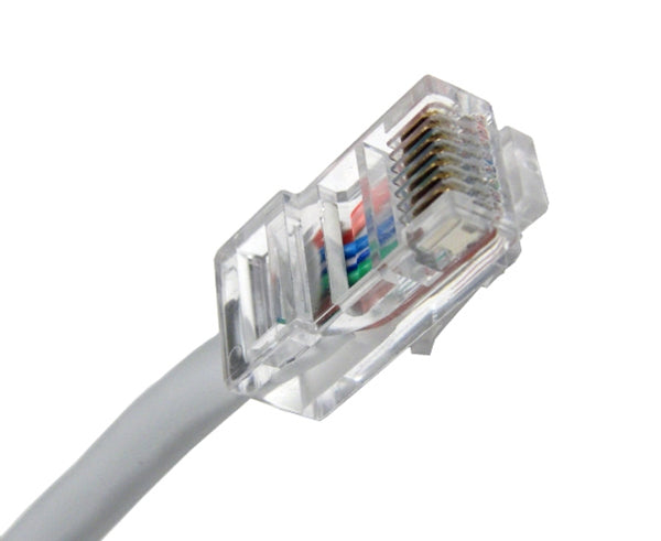 CAT5E Ethernet Patch Cable, Non-Booted, RJ45 - RJ45, 20ft - GRAY