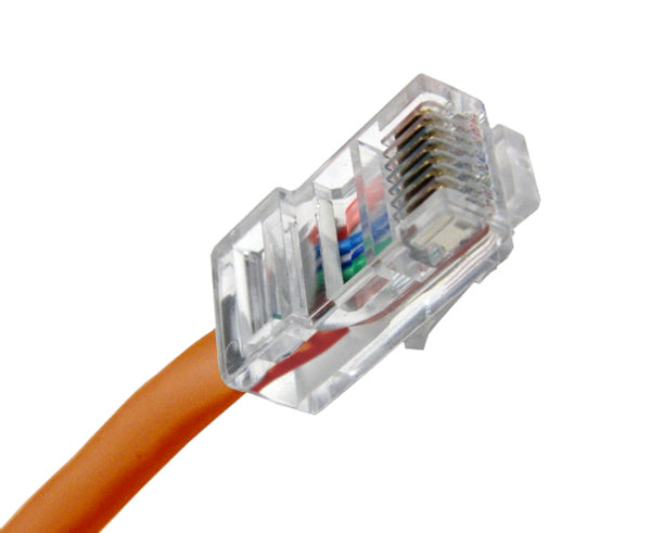 CAT5E Ethernet Patch Cable, Non-Booted, RJ45 - RJ45, 20ft - ORANGE