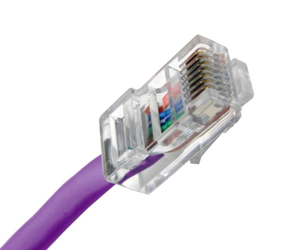 CAT5E Ethernet Patch Cable, Non-Booted, RJ45 - RJ45, 20ft - PURPLE