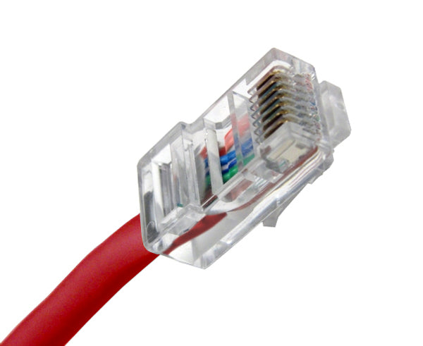 100' CAT6 Ethernet Patch Cable - Red
