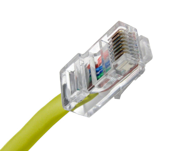 CAT5E Ethernet Patch Cable, Non-Booted, RJ45 - RJ45, 20ft - YELLOW