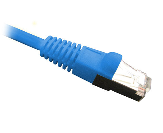 25' CAT6 Ethernet Patch Cable Shielded, Snagless Molded Boot - Blue