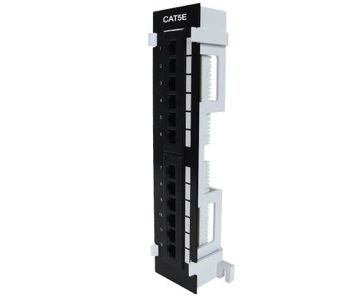 CAT5E 12 Port Vertical Patch Panel w/ Bracket_1