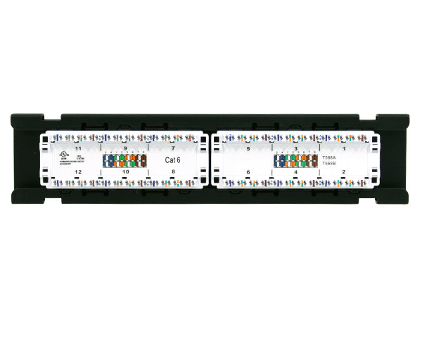 CAT6 Patch Panel, 12 port, Vertical Mount_05