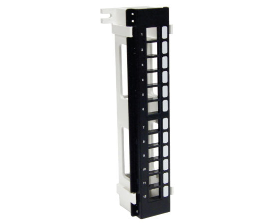 ICC Vertical HD Blank Patch Panel, front top 2 of 8