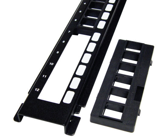 ICC Vertical HD Blank Patch Panel, front top 5 of 8