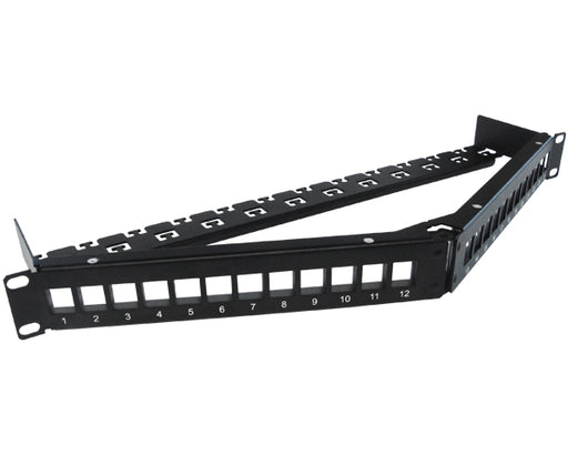 Shielded Blank Keystone Patch Panel, Angled, 24 Port / 48 Port, High Density