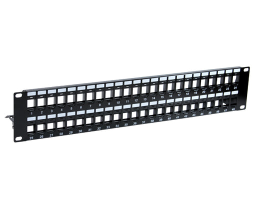 48 Port Blank Patch Panel with Support Bar_01
