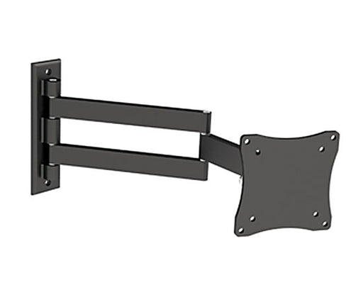 "Flat TV Mount Bracket 10"" to 23"" Tilt and Swivel, LCD101 Black"