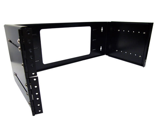 Network Rack, Swing-Out Wall Mount Bracket, Hinged, Adjustable Depth 2U, 4U, 8U