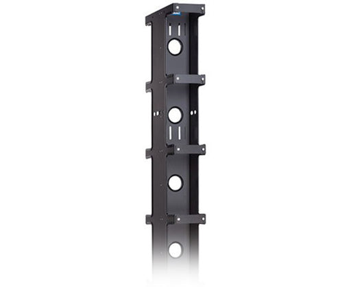 "Aluminum Vertical Cable Manager, Double Sided, Narrow, 84""x12.75""x3.65"""