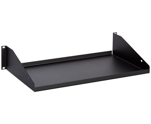 "2U Single-Sided Rack Shelf, 10"" Depth, Solid"