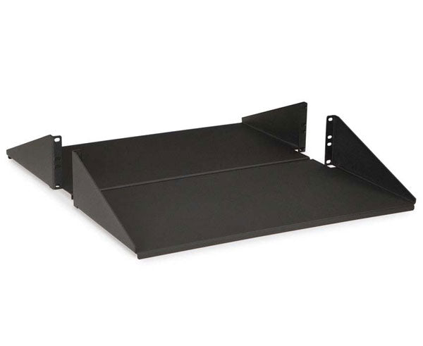 Network Rack, Component Shelf, 2-Piece Reversible, 2U