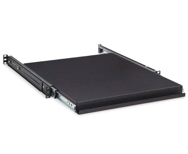 "Network Rack, Sliding Shelf, 4 Post, 1U, 20"" Depth"