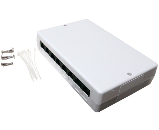 CAT 6 8 Port Surface Mount Box