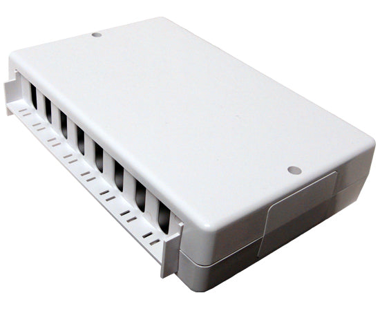 CAT 6 8 Port Surface Mount Box 110 Punchdown White