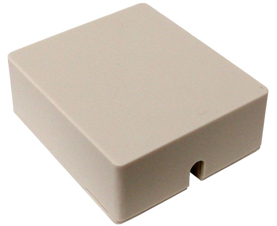 RJ11 Surface Mount Box, Single Port, White & Ivory