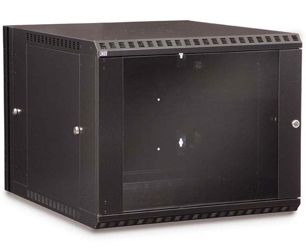 Network Rack, Swing-Out Wall Mount Enclosure, 9U