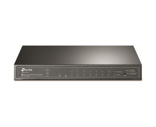 JetStream 8-Port Gigabit Smart PoE+ Switch with 2 SFP Slots