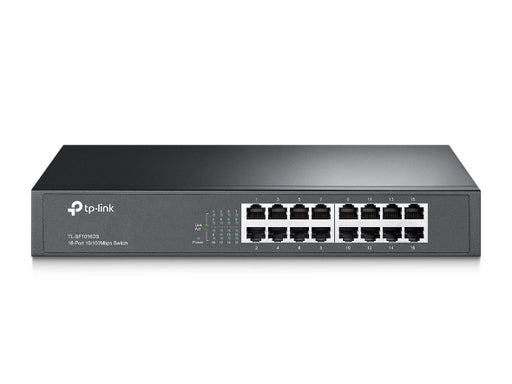 16-Port 10/100Mbps Ethernet Switch, Desktop/Rackmount