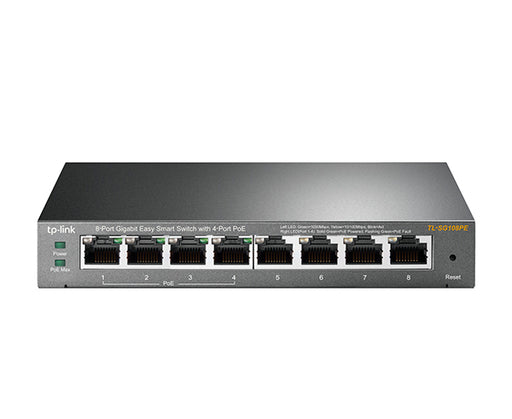 8-Port Gigabit Easy Smart Ethernet Switch with 4-Port PoE - Desktop