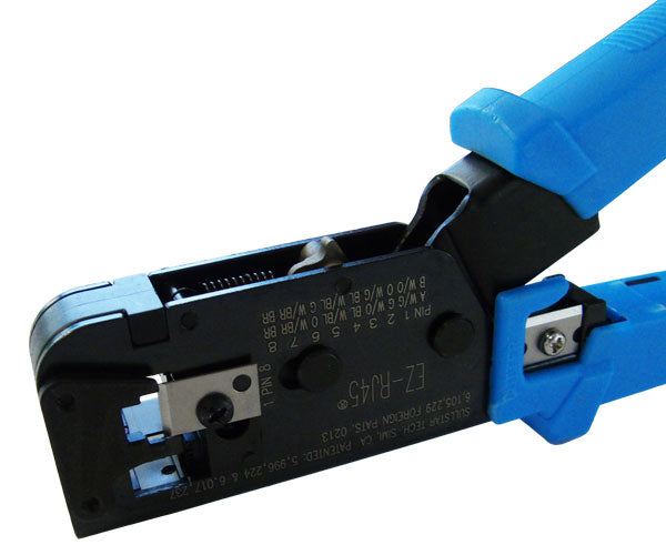 EZ RJ45® features precision cast Crimping Tool for Data & Telephone Cable