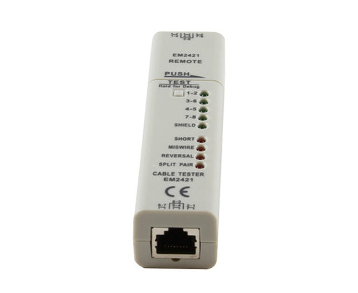 Network Cable Tester, RJ45, Pair and Shield LEDs, Fault Indicator LEDs