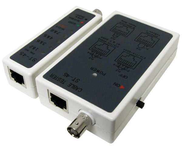 Network Cable Tester - RJ11, RJ12, RJ45 and BNC