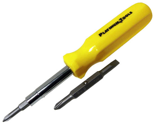 "6 in 1 Screwdriver inc. # 1 & #2 Phillips; #5 & #7 Slotted; 1/4"" & 5/16"" Nut Drivers."