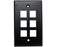 MIG+ Wall Plates, High Density 1, 2, 3, 4, & 6 Ports - Almond, Ivory, White, Black