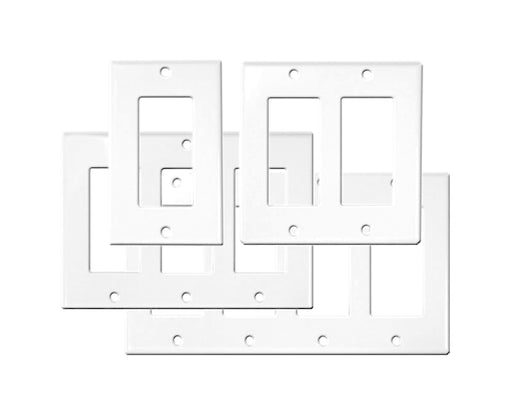 Decor Wall Plates- White