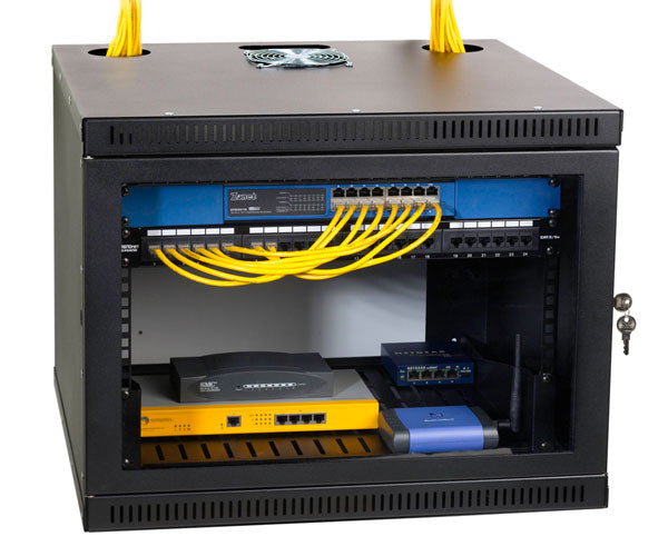 Network Rack, Wall Mount Enclosure, Locking Door, 8U 1 OF 6